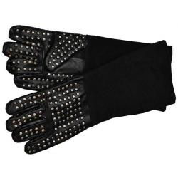 Heavy Leather Gloves with Metal Studs
