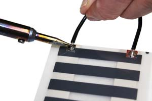 soldering heat tape connectionssolder wire to heat tape